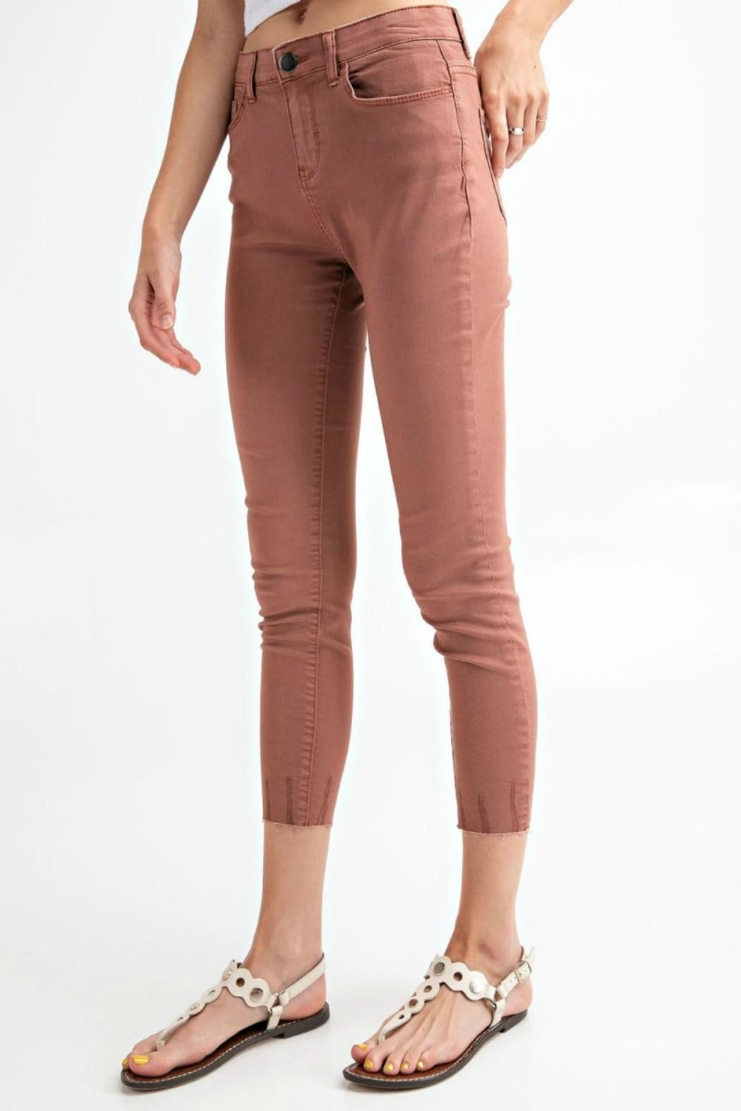 easel Cut-Edge Stretch Jeggings - Back Cropped Image