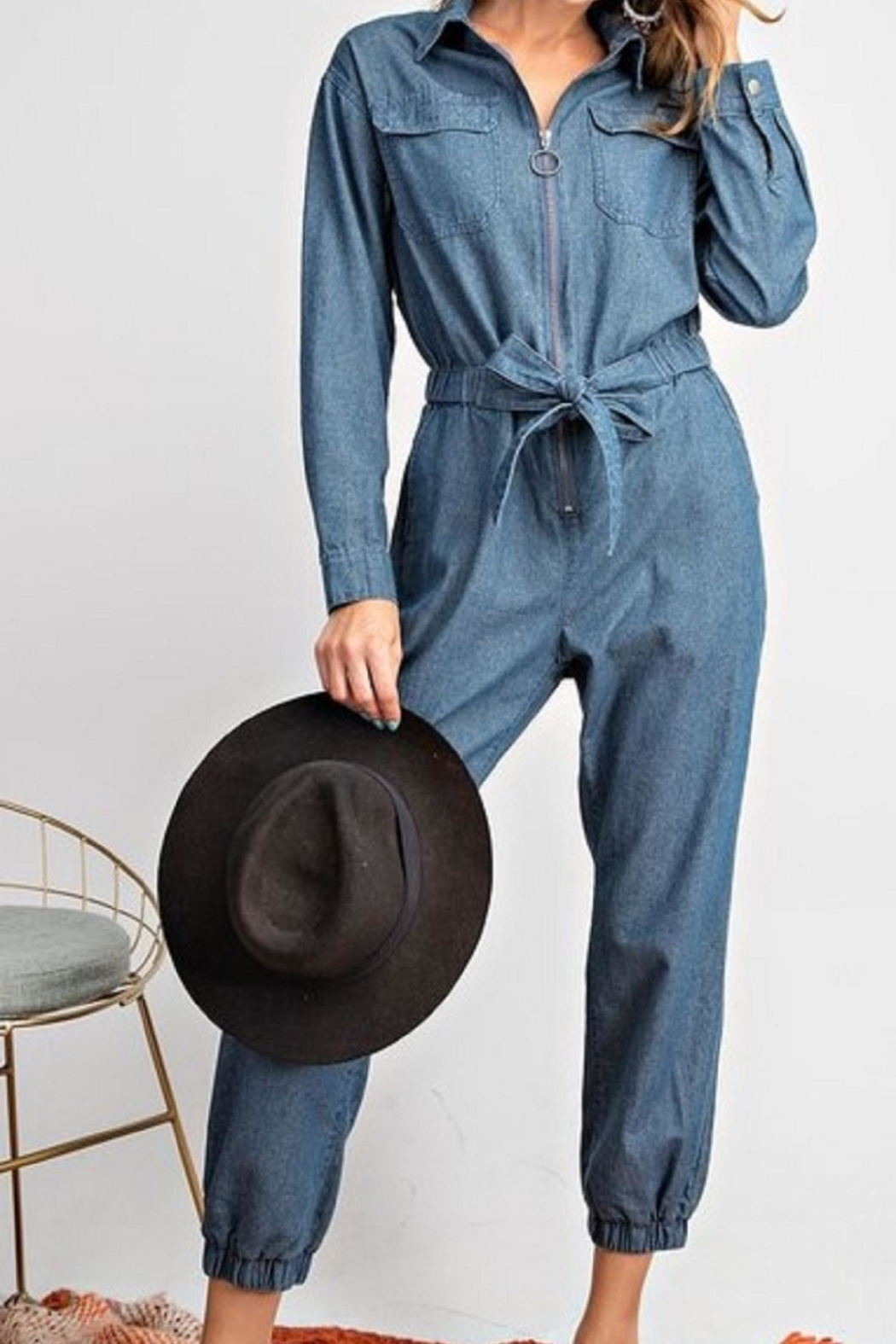 easel Denim Jumpsuit - Main Image