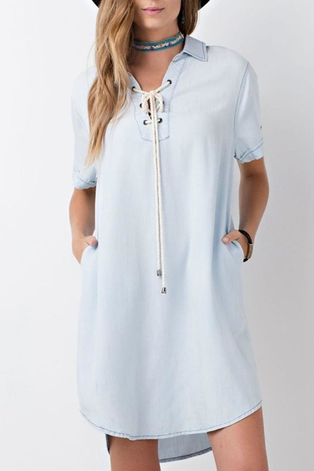 easel Denim Shirt Dress - Main Image