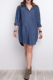 easel Denim Shirt Dress - Front cropped