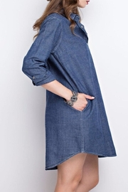 easel Denim Shirt Dress - Front full body