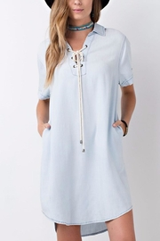 easel Denim Shirt Dress - Product Mini Image