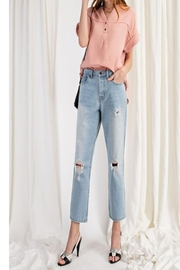 easel Destroyed Boyfriend Denim - Product Mini Image