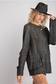 easel Distressed Black Sweater - Product Mini Image