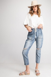 easel Distressed Cargo Denim - Product Mini Image