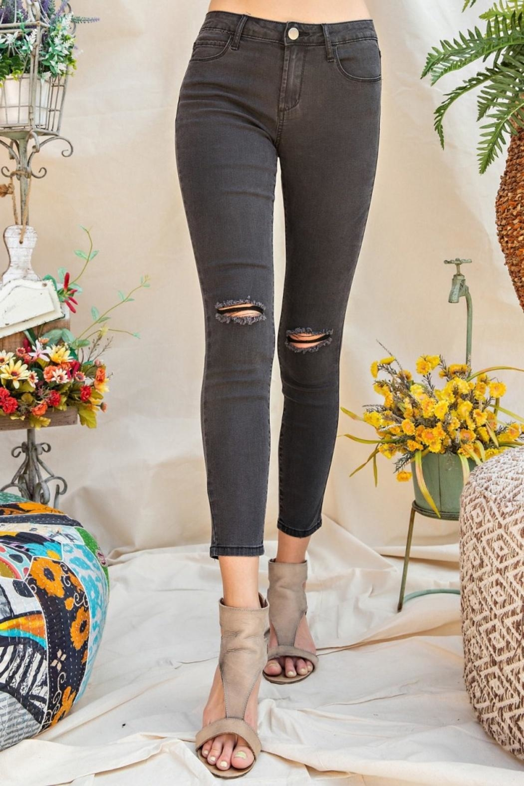 easel Distressed Skinny Jeans - Main Image