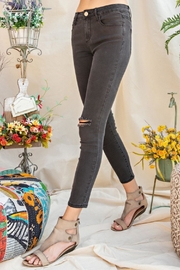 easel Distressed Skinny Jeans - Side cropped