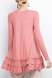 easel Double Ruffle Tunic - Front full body