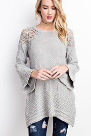 easel Drapey Asymmetrical Sweater - Front cropped