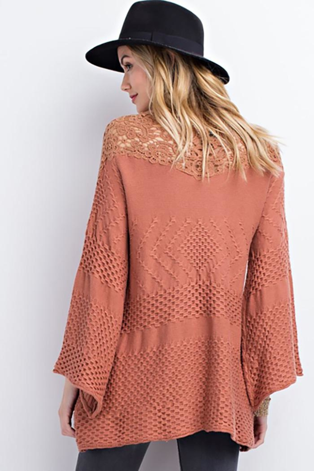 easel Drapey Asymmetrical Sweater - Front Full Image