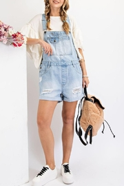 easel Dreamer Overall Shorts - Product Mini Image