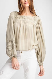 easel Embroidered Blouse - Product Mini Image