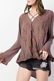 easel Embroidered Boho Blouse - Product Mini Image