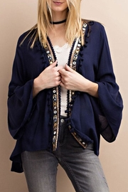 easel Sequin Detailed Cardigan - Product Mini Image