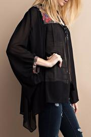 easel Embroidery Detailed Kimono - Front full body