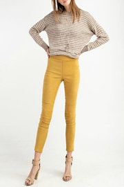 easel Faux-Suede Moto Legging - Product Mini Image