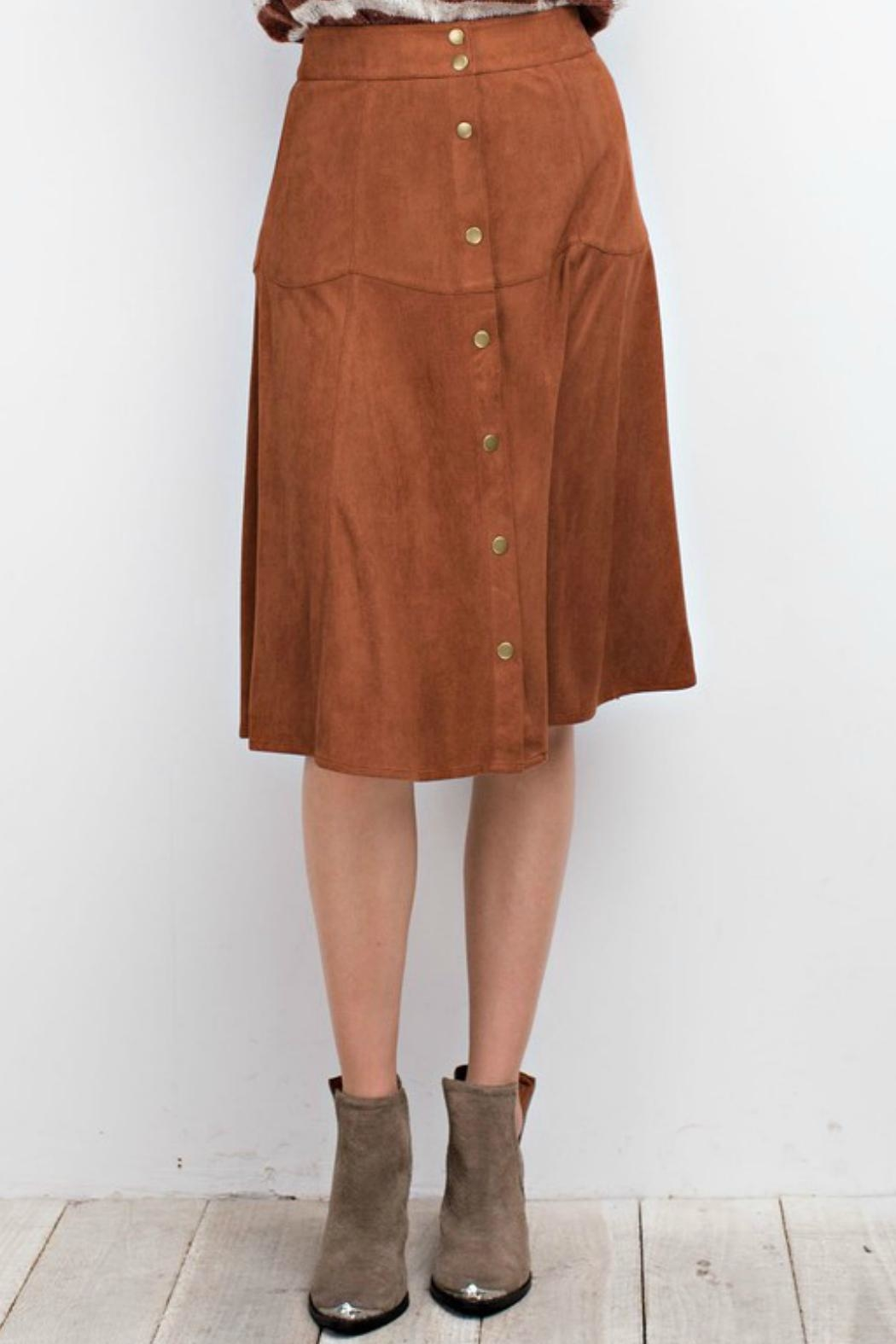 easel Faux Suede Skirt - Main Image
