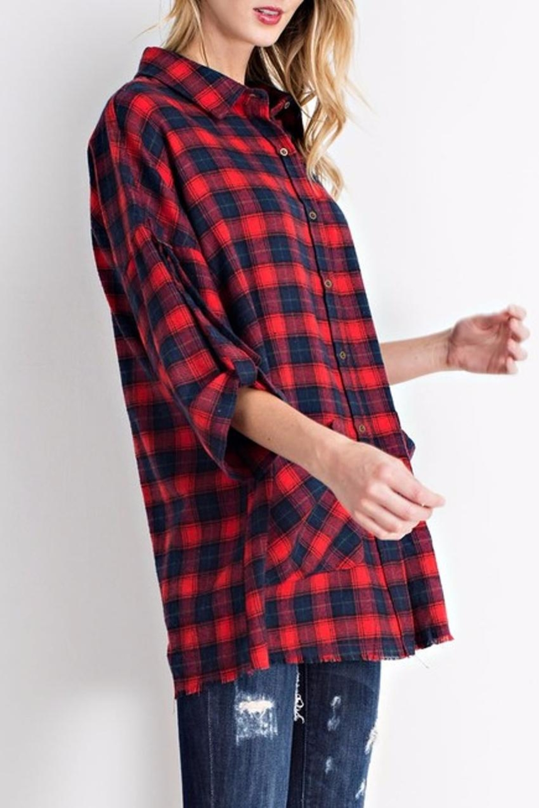 easel Flannel Button Down - Front Full Image