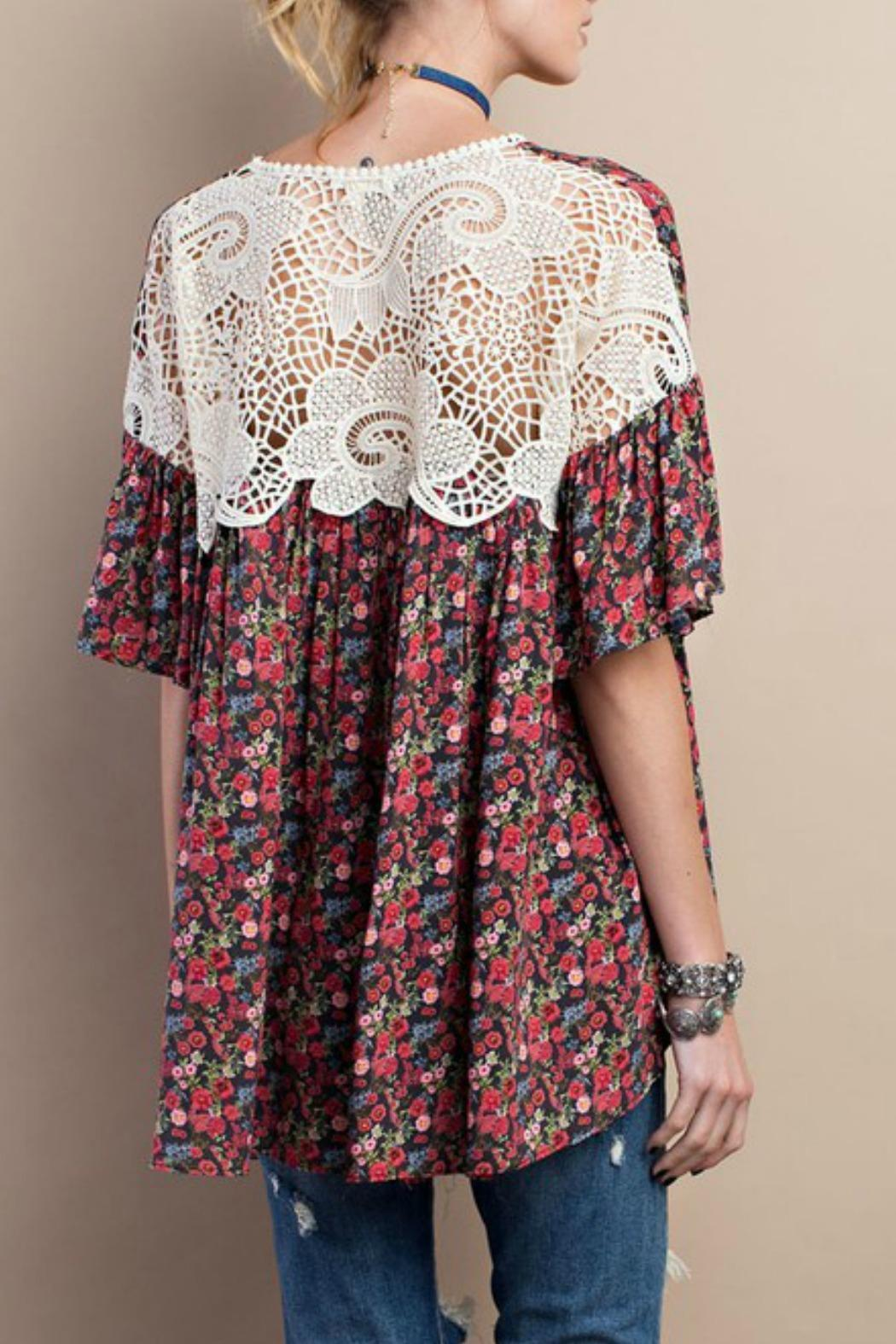 183c2830cfa5c easel Floral Babydoll Top from Texas by Red Poppy — Shoptiques