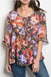 easel Floral Blouse - Product Mini Image