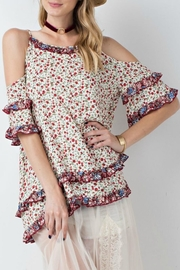easel Floral Cold-Shoulder Tunic - Product Mini Image