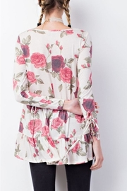 easel Floral Details Top - Front full body