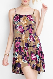 easel Floral Tan Dress - Product Mini Image