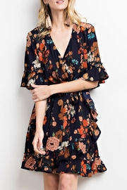 easel Floral Wrap Dress - Product Mini Image