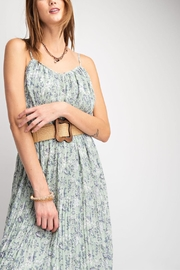 easel Follow Me Floral-Dress - Back cropped
