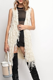 easel Fringe Sweater Vest - Product Mini Image