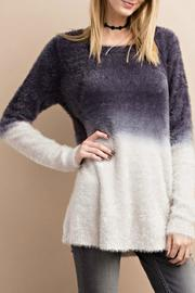 easel Fuzzy Deep Dye Sweater - Product Mini Image