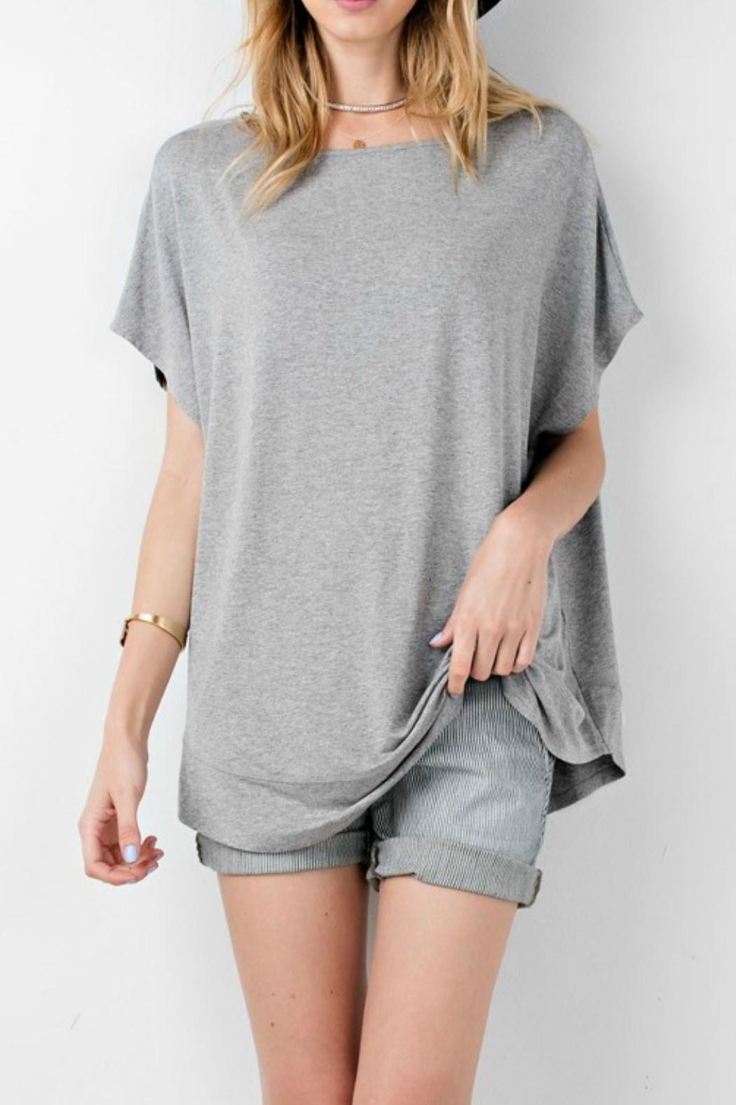 easel Gray Tunic Top - Front Cropped Image