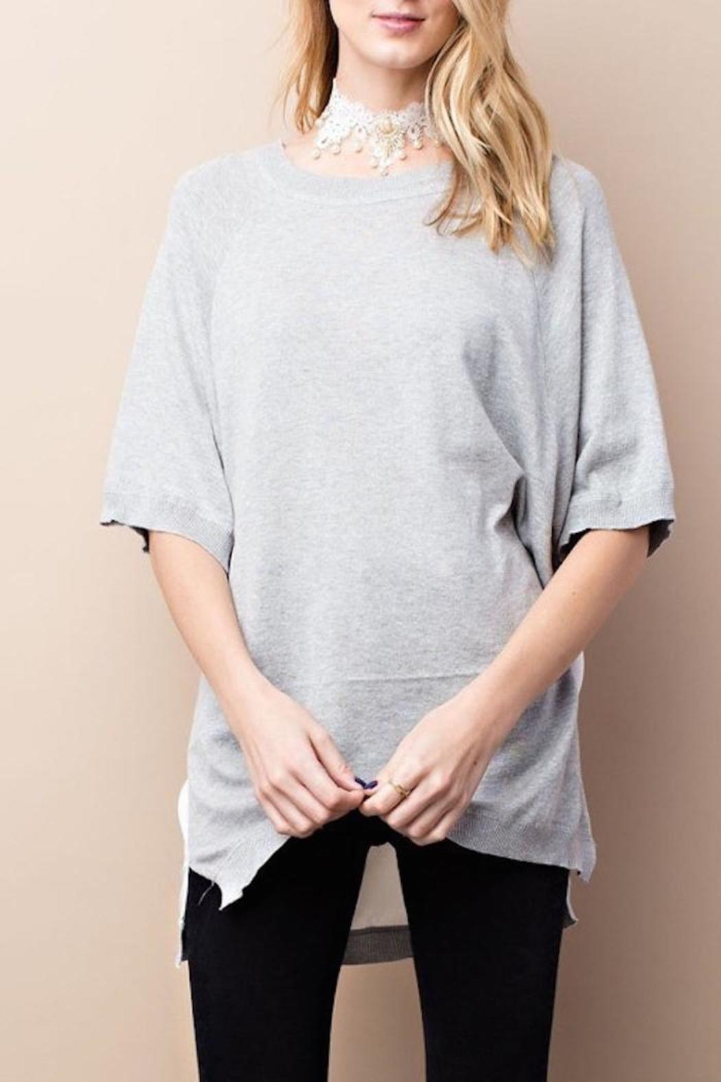easel Half Sleeve Top - Front Cropped Image