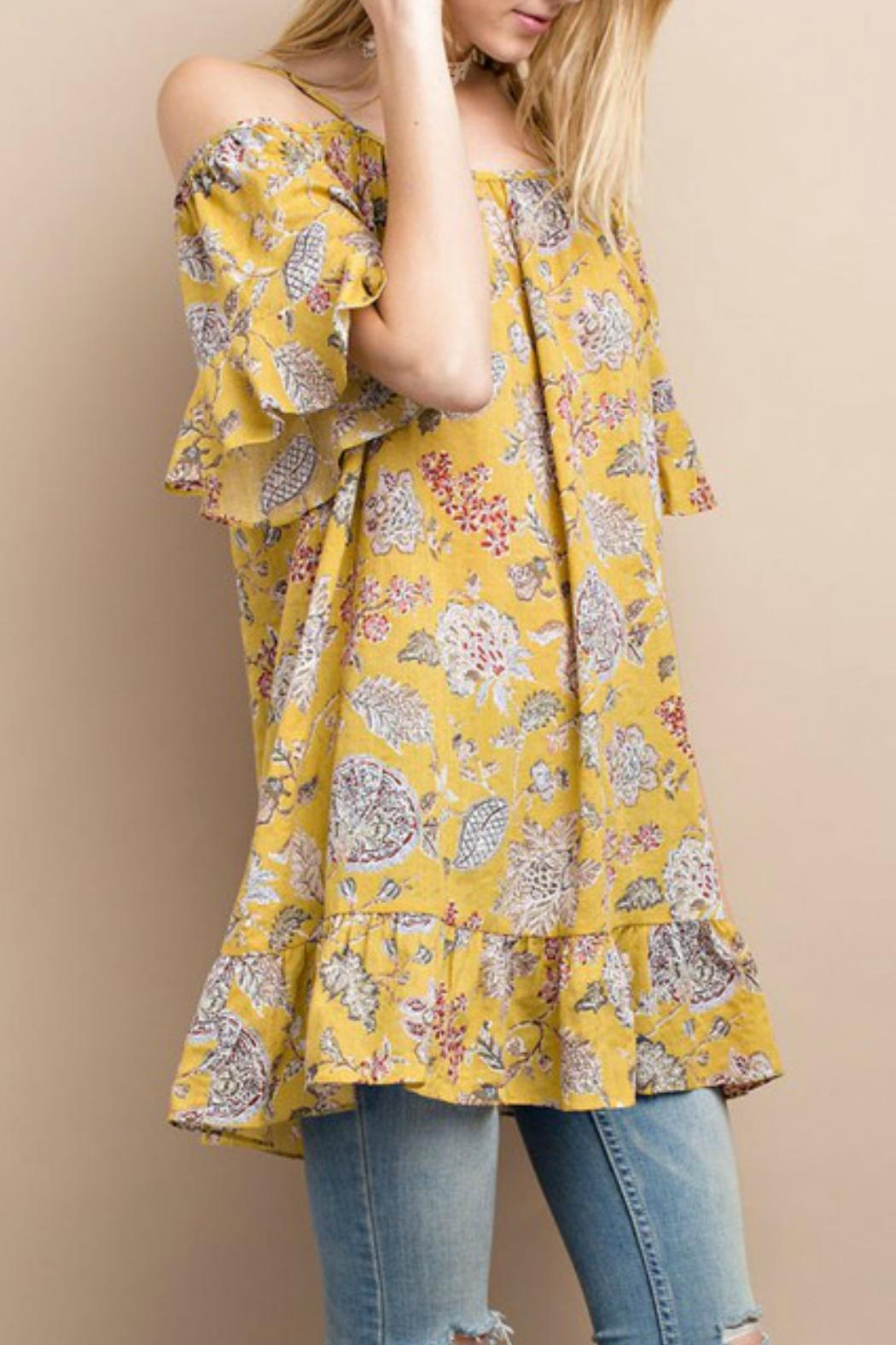 easel Happy Floral Tunic - Side Cropped Image