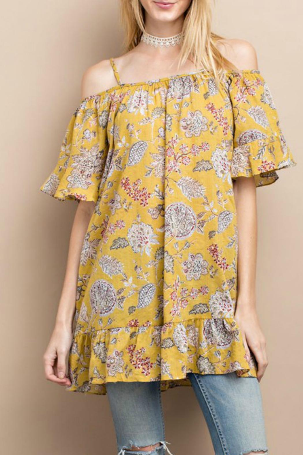 easel Happy Floral Tunic - Main Image