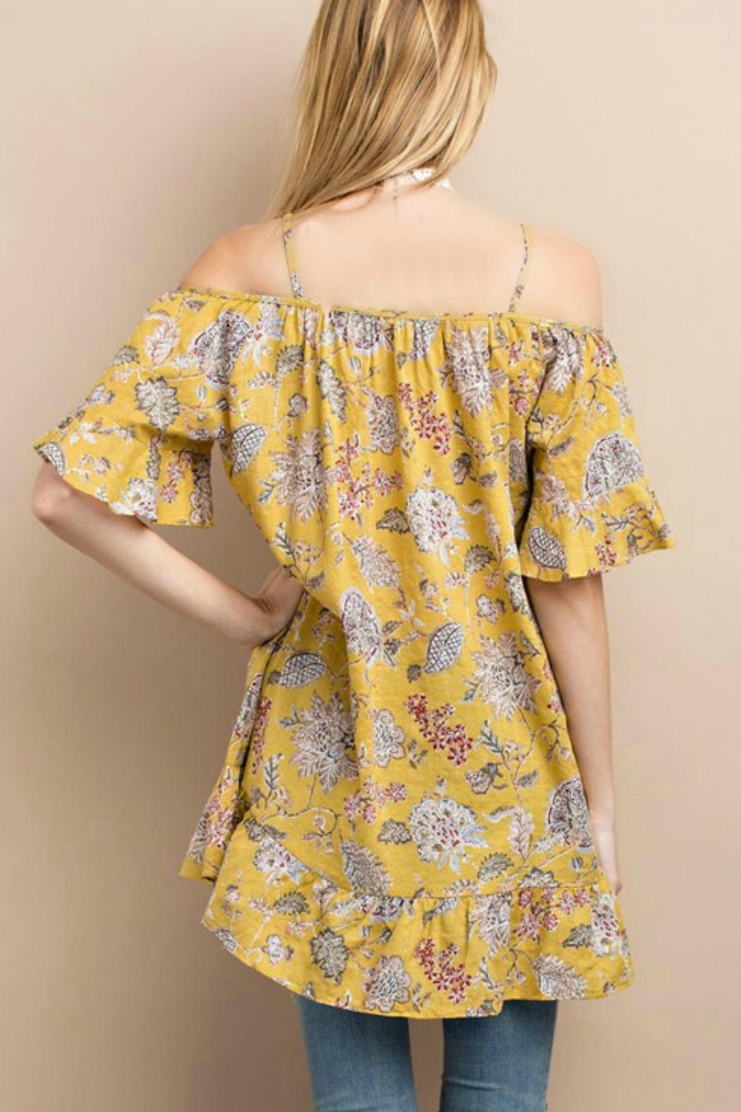 easel Happy Floral Tunic - Front Full Image
