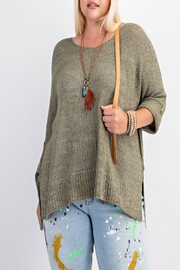 easel Hi-Low Knit Sweater - Product Mini Image