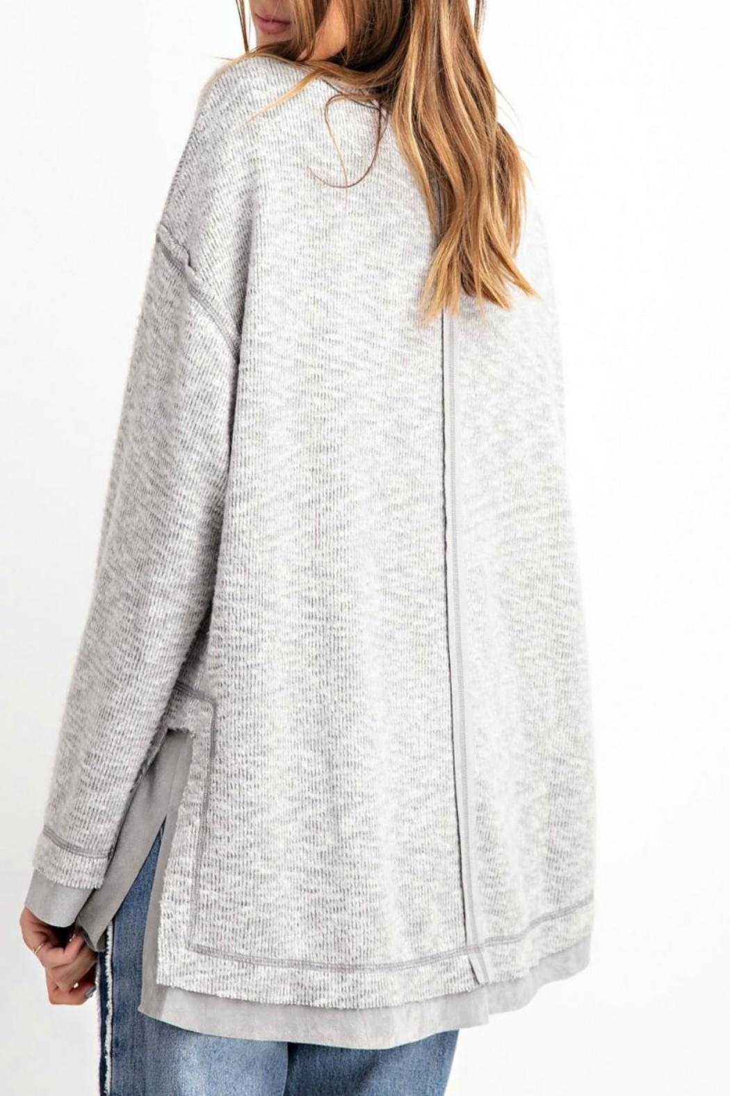 easel Hi-Low Tunic Top - Front Full Image