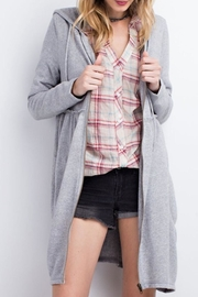 easel Hooded Zip-Up Cardigan - Product Mini Image