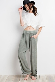 easel Keyhole Side-Tie Pants - Other