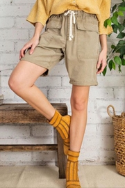 easel Khaki Twill Shorts - Product Mini Image