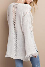 easel Knitted Fringe Sweater - Back cropped