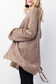 easel Knitted Sweater Cardigan - Front full body