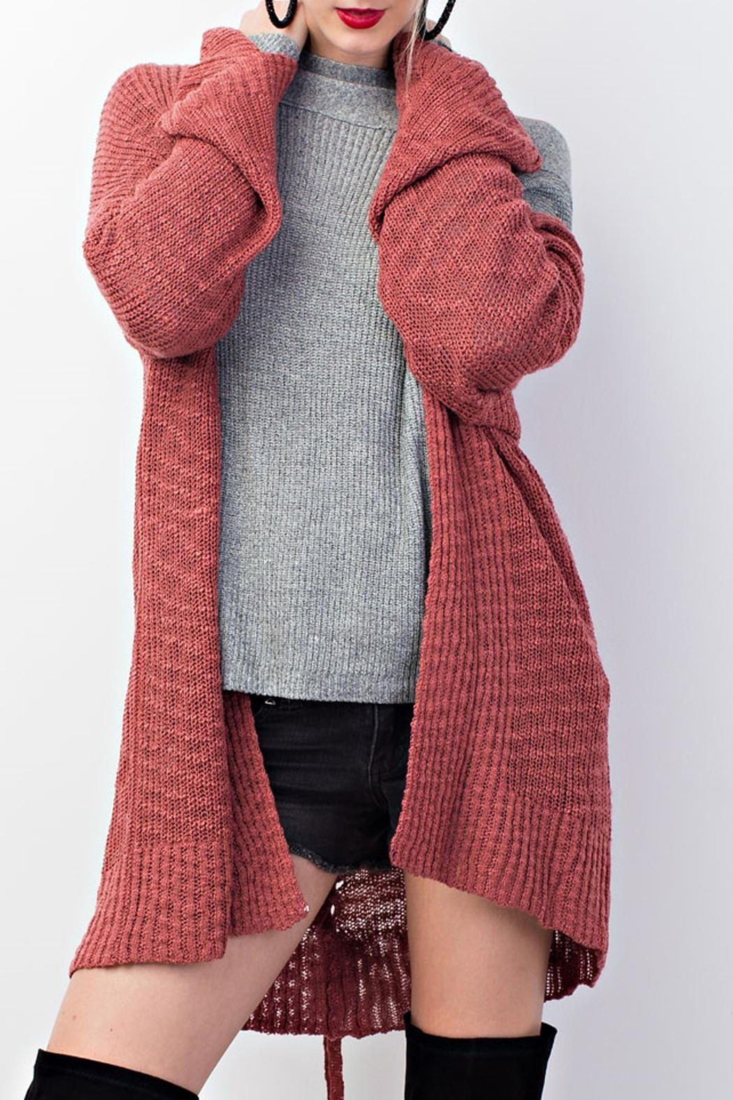 easel Knitted Sweater Cardigan - Main Image