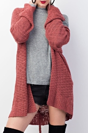 easel Knitted Sweater Cardigan - Product Mini Image