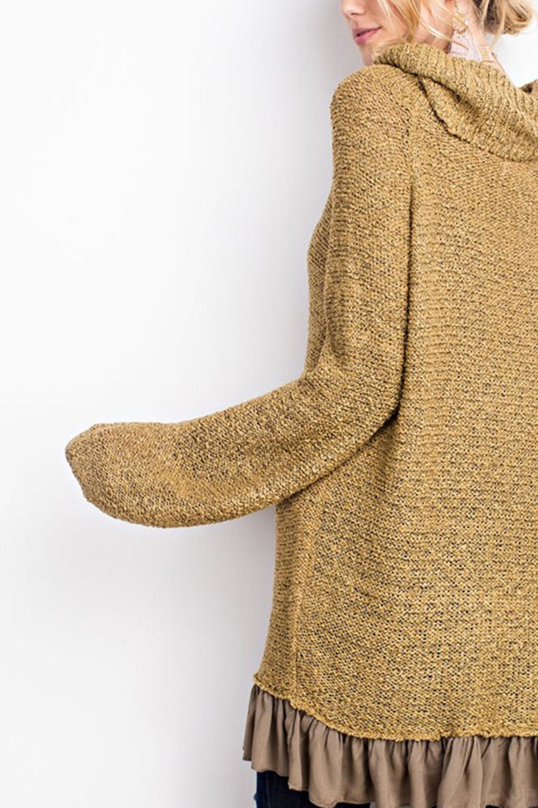 easel Knitted Sweater Tunic - Front Full Image