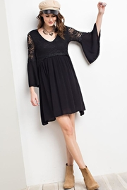easel Lace Bell Sleeve-Dress - Other