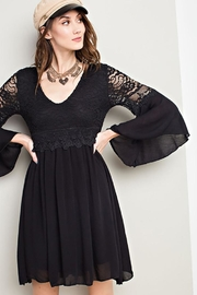 easel Lace Bell Sleeve-Dress - Side cropped
