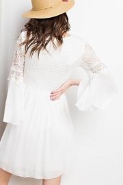 easel Lace Bell Sleeve-Dress - Front full body