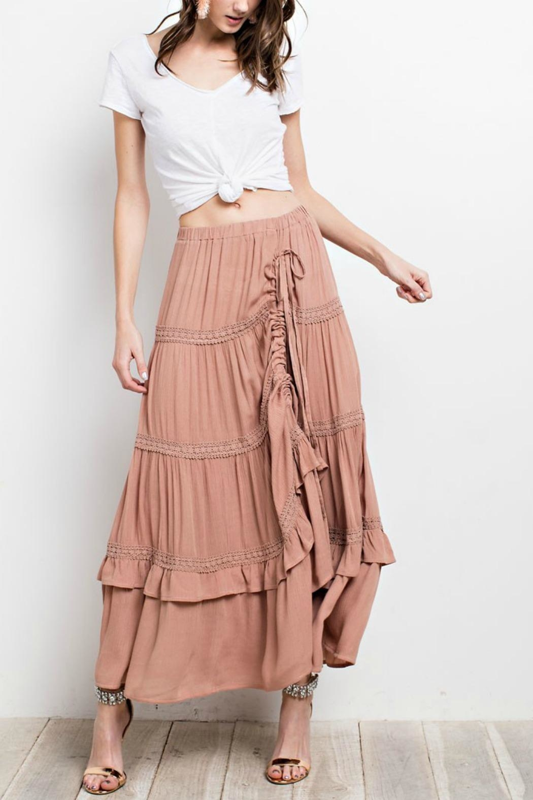 easel Lace-Trim Maxi Skirt - Main Image